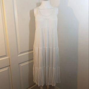 Mix it L /XL white rayon flowy dress